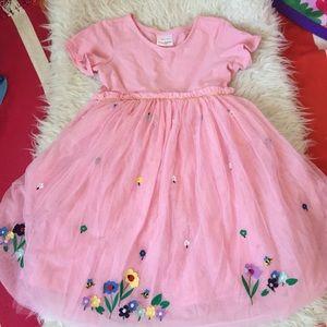 Hanna Appliqué Pink Tulle Dress 140